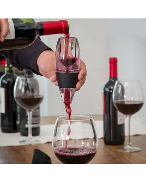 Aérateur Décanteur de vin avec socle antigoutte