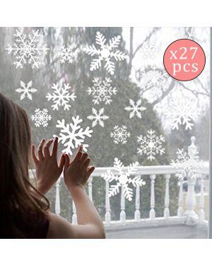 27 Stickers Flocon de Neige - Décoration de Noël