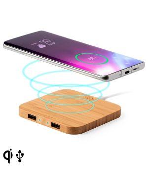 Chargeur Sans Fil pour Smartphones en Bambou