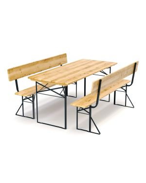 Ensemble de table et bancs pliables