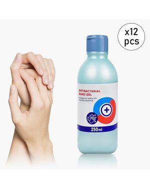 Pack de 12 Gels désinfectants pour les mains 250 ml