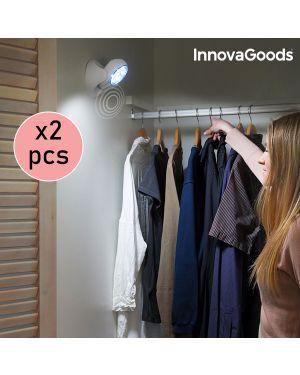 Lot de 2 Lampes LED 360º avec Capteur de Mouvement