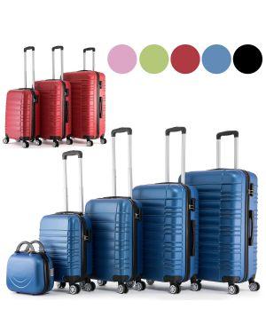 Set de valises a coque rigide avec roulettes